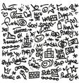 raphip hop symbols - doodles set vector image vector image