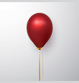 realistic red balloon with shadow shine helium vector image vector image
