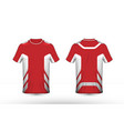 red and white layout e-sport t-shirt design vector image vector image