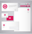 s red letter monogram identity vector image
