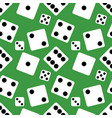 seamless pattern background of lucky dices vector image vector image