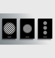set cover with striped circle templates design vector image vector image