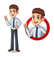 set of businessman in shirt inside the circle logo vector image vector image