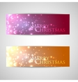 set of elegant Christmas banners with sparkles vector image