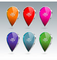 shiny gloss map pointer icon vector image vector image