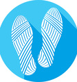 Shoe Prints Icon vector image vector image