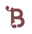 sign of the letter b vector image vector image