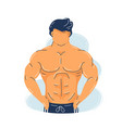 strong fitness muscular man with perfect body vector image
