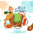 summer time colorful concept vector image