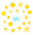 suns icons vector image