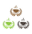 tea and coffee symbols set vector image