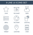 ui icons vector image vector image