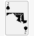 usa playing card 2 spades vector image
