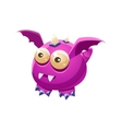 Violet Fantastic Friendly Pet Dragon With Sharp vector image vector image
