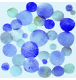 Watercolor bubbles seamless pattern Watercolor vector image