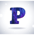 Watercolor letter P vector image vector image