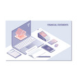 web page design templates for financial statement vector image vector image
