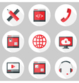 Website Icons Set over White with Shadows vector image vector image