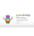 website interface concept ecology and green energy vector image