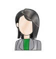 woman cartoon young portrait character female vector image vector image