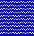 zigzag patternblue white intermittent line vector image vector image