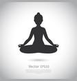black and white yoga icon vector image