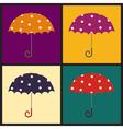 Retro umbrellas vector image