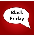 Black friday speech bubble vector image