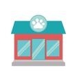 pet shop dog cat paw print facade vector image