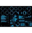 Futuristic user interface elements set vector image