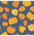Halloween Pumpkin Pattern vector image