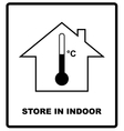 Store in indoor Temperature sign Cargo shipping vector image