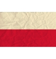 Poland paper flag vector image