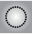 Stars rounded icon in a flat design in black color vector image