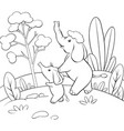 a children coloring bookpage two elephants on the vector image vector image