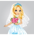 Beauty Bride Blonde Princess vector image