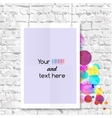 Blank on the wall with colorful balloons vector image vector image