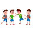 boy schoolboy kid poses set primary school vector image vector image