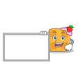 bring board pose waffle character cartoon design vector image vector image