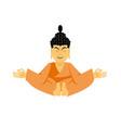 buddha lotus pose yoga isolated zen and vector image vector image