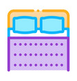 comfortable double bed icon outline vector image