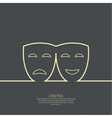 Comic and tragic theatrical mask vector image vector image