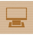 Computer Flat modern web button and space for your vector image