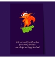 Cute Squirrel Standing on a Branch Christmas vector image vector image