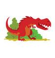 dinosaurs dino animal tyrannosaurus t-rex vector image vector image
