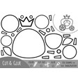 education paper game for children carriage vector image vector image