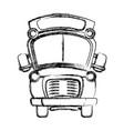 figure school bus transportation to education vector image vector image