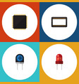 flat icon technology set of mainframe recipient vector image vector image