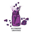 food collection delicious blueberry smoothie vector image