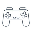 gamepad videogame symbol vector image vector image